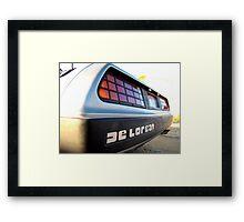 Delorean Framed Print
