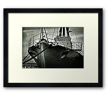 First of her Class. Last of the Fleet Framed Print