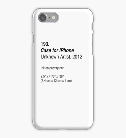 Case, as art iPhone Case/Skin