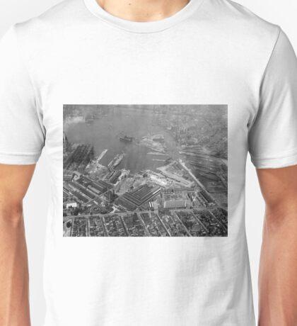 U.S. Naval Yard in Brooklyn NY Photograph (1932) Unisex T-Shirt