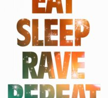 Eat Sleep Rave Repeat Sky Edition Sticker