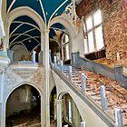 Hallway of an abandoned castle by Maxim Mayorov