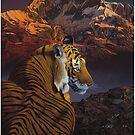 Cosmic Tiger - Iphone by Graeme  Stevenson
