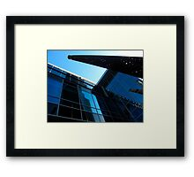 Blue T.O. Framed Print