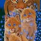 Bobcat Kittens by Graeme  Stevenson