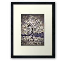 Vincent van Gogh - The Pink Peach Tree (Black and White) Framed Print