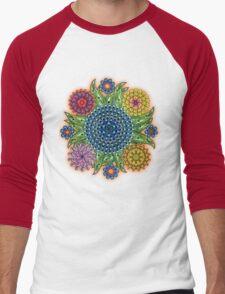 Mandala flowers Men's Baseball ¾ T-Shirt