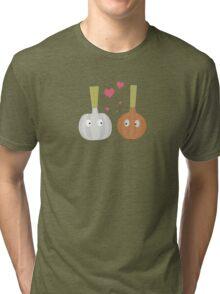 Garlic and Onion in love Tri-blend T-Shirt
