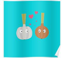 Garlic and Onion in love Poster