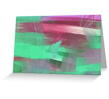 Soft Red Colors Greeting Card