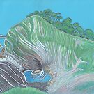 Stair Hole, Lulworth Cove, Dorset (Pastel) by MagsWilliamson