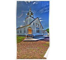Church on the Prairie Poster