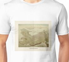 Vintage Pictorial Map of Newport RI (1878) Unisex T-Shirt