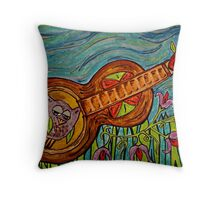 Sound Hole Hooter Throw Pillow