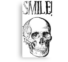 Smile! Smiling skull Canvas Print