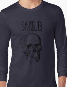 Smile! Smiling skull Long Sleeve T-Shirt