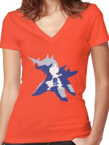 Oshawott Inception Women's Fitted V-Neck T-Shirt