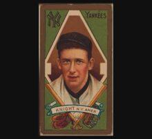 Benjamin K Edwards Collection Jack Knight New York Yankees baseball card portrait One Piece - Short Sleeve