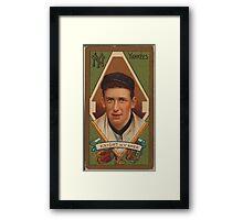 Benjamin K Edwards Collection Jack Knight New York Yankees baseball card portrait Framed Print