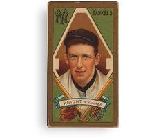 Benjamin K Edwards Collection Jack Knight New York Yankees baseball card portrait Canvas Print