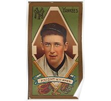 Benjamin K Edwards Collection Jack Knight New York Yankees baseball card portrait Poster