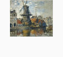 The Windmill on the Onbekende Gracht Amsterdam - Claude Monet - 1874 Unisex T-Shirt