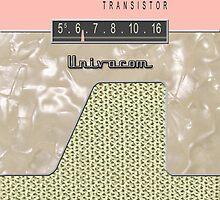 Vintage Transistor Radio - Shell PInk by ubiquitoid