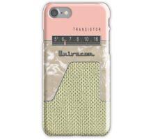 Vintage Transistor Radio - Shell PInk iPhone Case/Skin