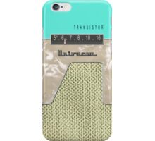 Vintage Transistor Radio - Seafoam Green iPhone Case/Skin