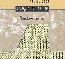 Vintage Transistor Radio - Creme by ubiquitoid