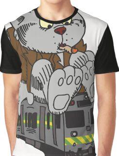 Fritz the Cat Train Graphic T-Shirt