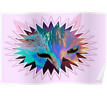 Cat mask on pink Poster