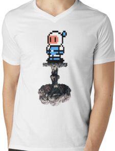 Bomber Boom Mens V-Neck T-Shirt