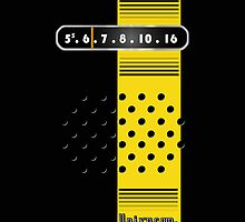 Transistor Radio - 70's Yellow Stripe by ubiquitoid