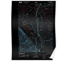 USGS Topo Map Oregon OR Portland 20110901 TM Inverted Poster