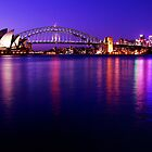 Sydney Opera House & Harbour Bridge Twilight by Simon Le