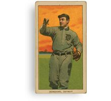 Benjamin K Edwards Collection Wild Bill Donovan Detroit Tigers baseball card portrait 001 Canvas Print