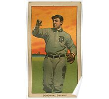 Benjamin K Edwards Collection Wild Bill Donovan Detroit Tigers baseball card portrait 001 Poster