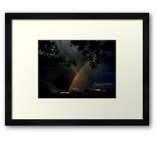 Where the Rainbow Ends Framed Print