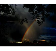 Where the Rainbow Ends Photographic Print