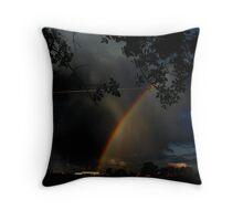 Where the Rainbow Ends Throw Pillow