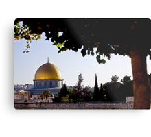 Israel, Jerusalem, Old City, The Gilded Dome of the Rock on Temple Mount Metal Print