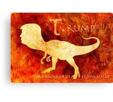 T. rump Greatest Leader of the Prehistoric World. Canvas Print