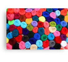 Colorful Balls of Yarn Canvas Print