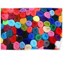 Colorful Balls of Yarn Poster