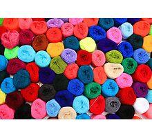 Colorful Balls of Yarn Photographic Print