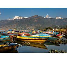 Pokhara Boats Photographic Print