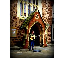 Exeter Street Musician Photographic Print