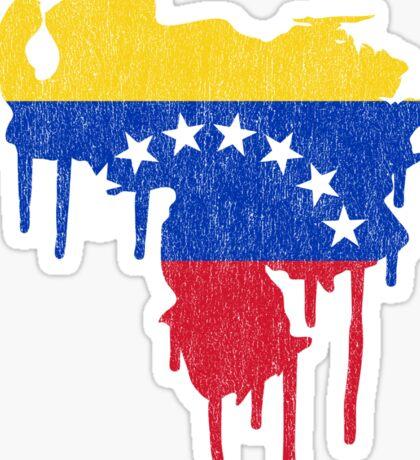 Venezuela Paint Drip Sticker