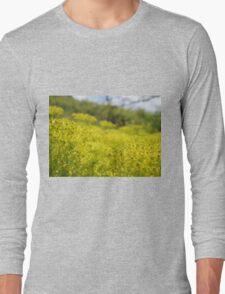 Yellow Flower Patch Long Sleeve T-Shirt